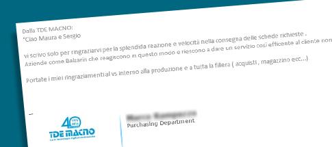 immagine di lettera di complimenti alla professionalità dell'azienda