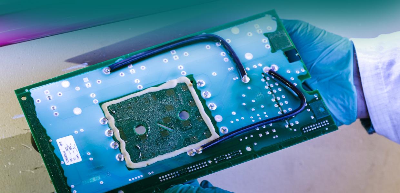 paricolari delle schede elettroniche